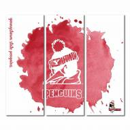 Youngstown State Penguins Triptych Watercolor Canvas Wall Art