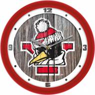 Youngstown State Penguins Weathered Wood Wall Clock