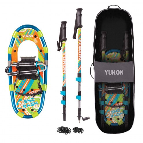 Yukon Charlie's Snow-Bash Youth Aluminum Snowshoe Kit