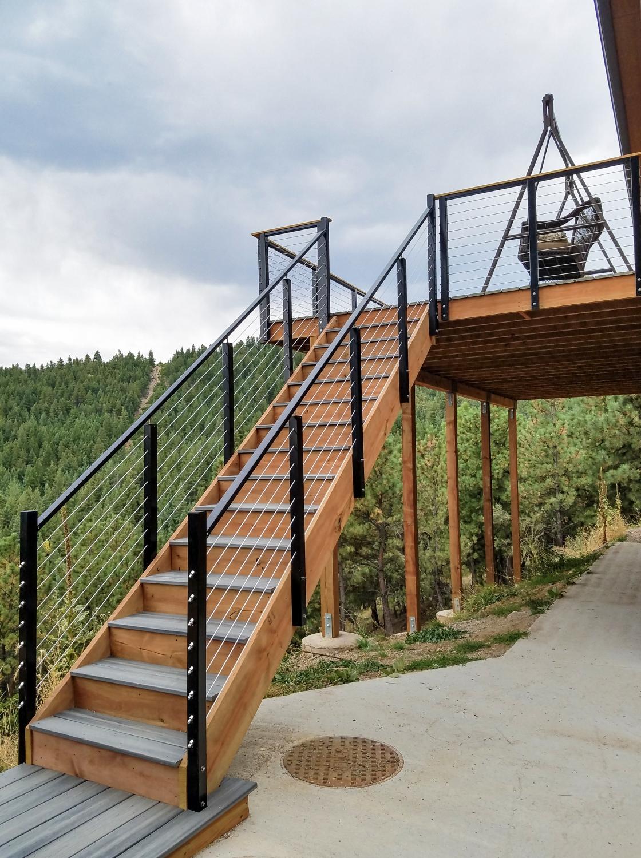 Cable Railing Post - Fascia Mount, Intermediate | Outdoor ...
