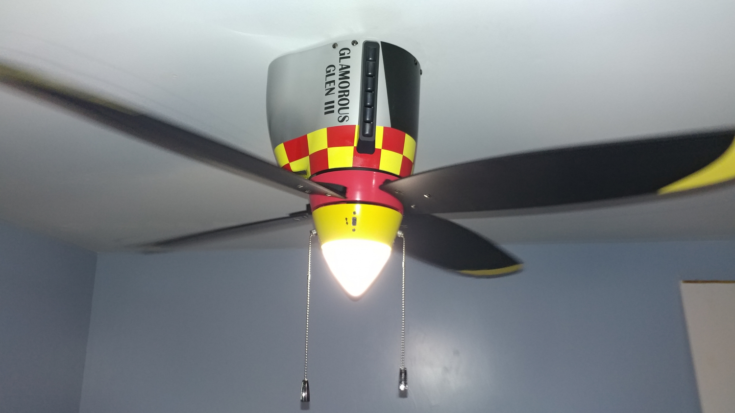 P 51 Mustang Warbird Airplane Ceiling Fan Cool Aviation Decor
